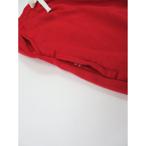 Henry & William Men's Lightweight Basic Fleece Sweatpants with Side Zipper Pocket-RED