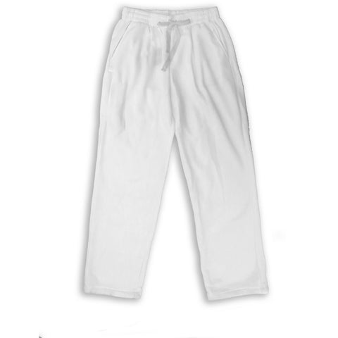 Henry & William Men's Lightweight Basic Fleece Sweatpants with Side Zipper Pocket-WHITE