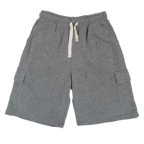 H&W Men's Basic Fleece Cargo Shorts with 9 Variety  Colors