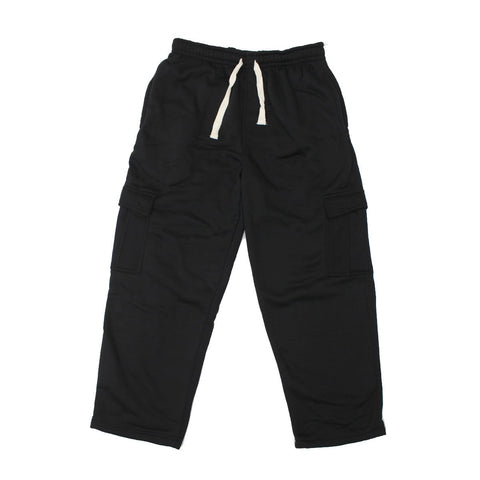 Henry & William Men's Basic Heavyweight Fleece Cargo Pants(BLACK to Hot Pink)