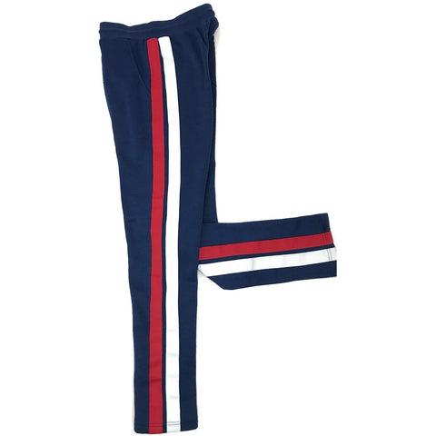 Henry & William Men's Hipster Hip Hop Active Basic Style 2-Strip Straight Fleece Pant