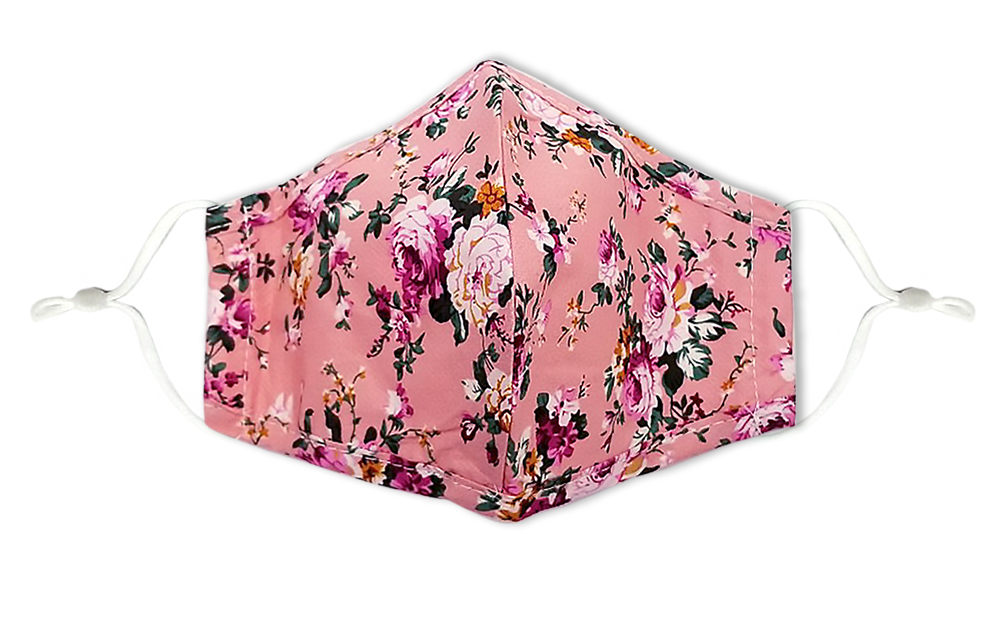Flower Print Reusable Non- Medical Cotton Face Mask W/ Filter Pocket-Labor Day Special