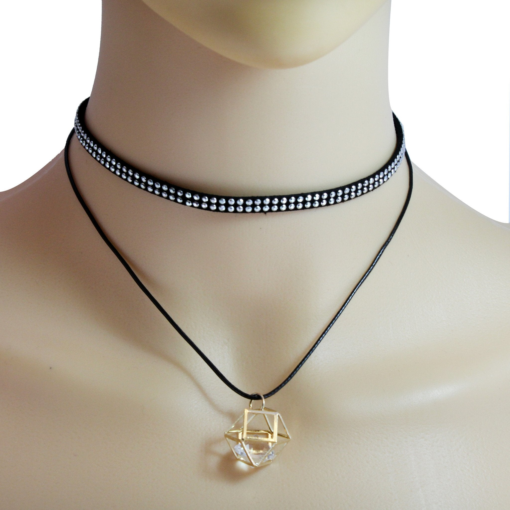 Stone Double Layered Choker Necklace