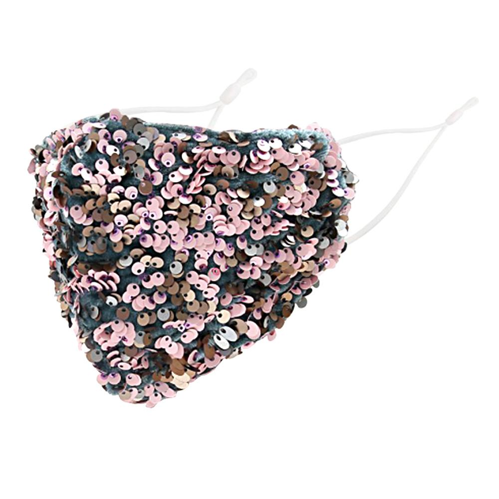 Multi Color Sequin Cluster Non-Medical Reusable Fashion Mask