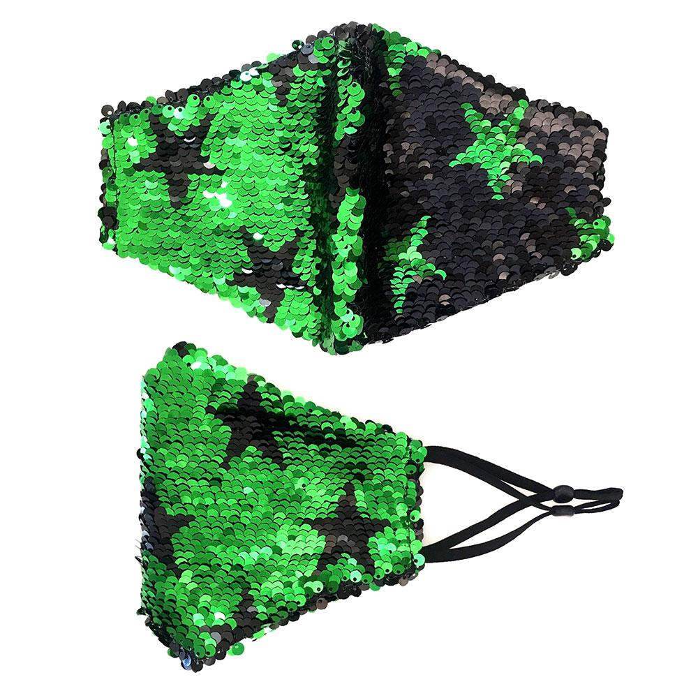 Reversible Sequin Star Pattern Non Medical Reusable Fashion Mask