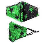 Load image into Gallery viewer, Reversible Sequin Star Pattern Non Medical Reusable Fashion Mask
