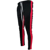 Henry & William | Men's Stripe Track Pants With Ankle Zippers - KMOMO