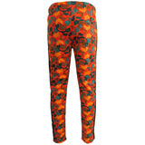 H & WMen's Camo Track Pants With Ankle Zippers