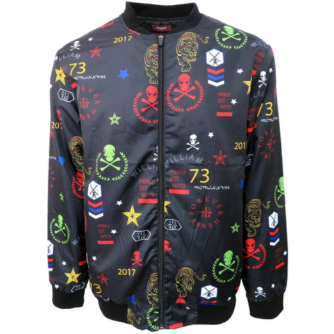 H & W Men's Lightweight Multi Pattern Printed Windbreaker Jacket
