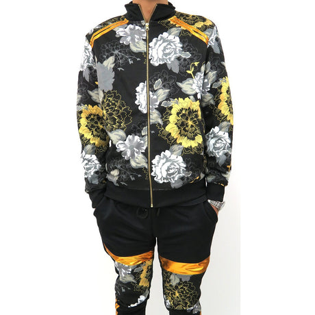 Henry & William Golden Floral  Printed Fashion Tracksuit