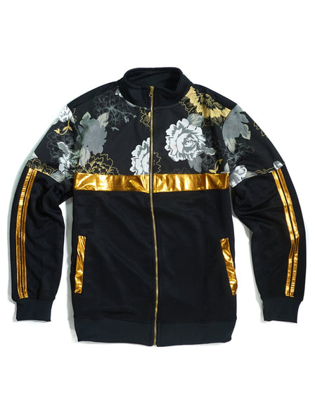 Golden Floral  Printed Fashion Tracksuit-J245, Sold Separately