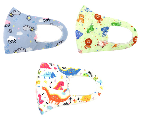 Kid's Character Print Unisex Reusable Stretchable Face Masks
