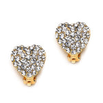 Load image into Gallery viewer, Pave Crystal Heart Clip On Earrings(18 mm)   gemgem jewelry.myshopify.com