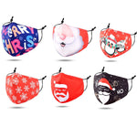 Load image into Gallery viewer, Christmas Print Cotton Kids Fashion Masks