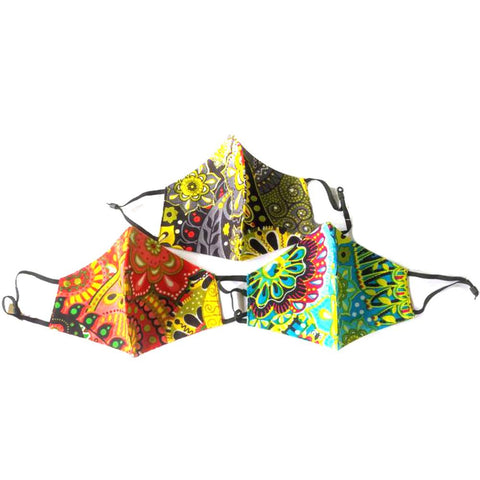 Multi Flower Print Non-Medical Fashion Masks