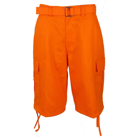 Henry & William Men's Heavy Twill Cargo Shorts For Big & Tall (Orange, Purple, Red, Royal Blue, Turquoise, White, Yellow) - KMOMO