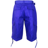 Henry & William Men's Heavy Twill Cargo Shorts (Orange, Purple, Red, Royal Blue, Turquoise, White, Yellow) - KMOMO
