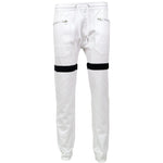 Load image into Gallery viewer, H & W Men's Zipper Front Messenger Twill Jogger Pants
