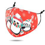 Christmas Theme Print Cotton Blend Non-Medical Fashion Reusable Face Cover Mask