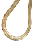 Gold Plated  Unisex Herringbone Chain 14mm - 20 inches, 24 inches, 30 inches