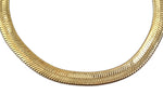 Load image into Gallery viewer, Gold Plated  Unisex Herringbone Chain 14mm - 20 inches, 24 inches, 30 inches