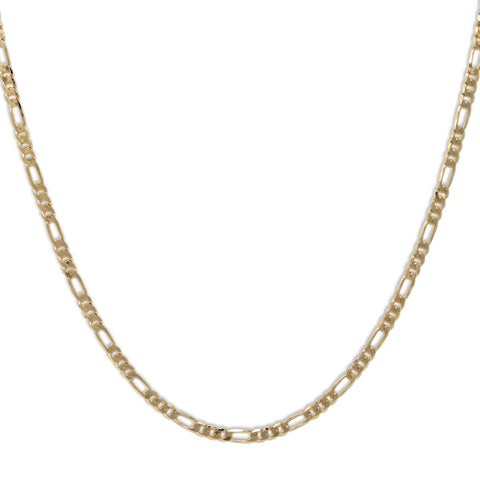 Gold Plated  Unisex Figaro Chain 5mm - 20 inches, 24 inches, 30 inches
