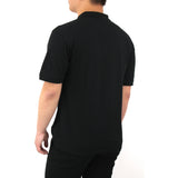 Henry & William Men's Classic Short Sleeve Polo Shirts-Black