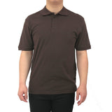 Henry & William Men's Classic Short Sleeve Polo Shirts-Brown