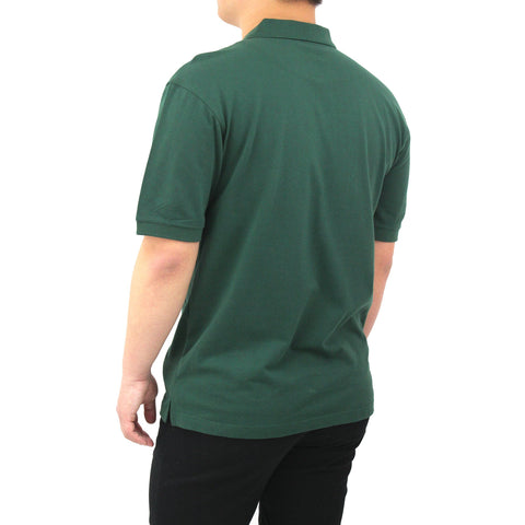 Henry & William Men's Classic Short Sleeve Polo Shirts-Green