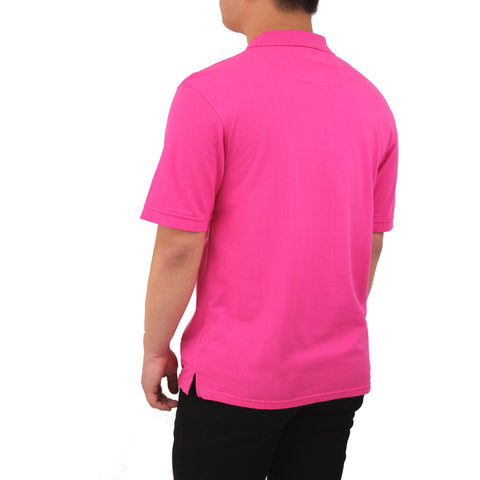 Henry & William Men's Classic Short Sleeve Polo Shirts-Pink