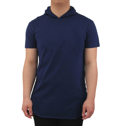 Henry & William Men's Lightweight Hoodie Longline T-Shirt W/side Zippers
