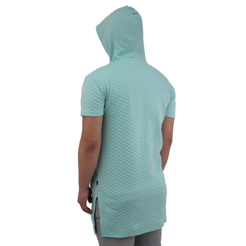H & W Men's Quilted Shoulder Longline Crewneck T-Shirts