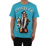 H & W Men's Hipster Hustler Women Dog Graphic T-Shirt
