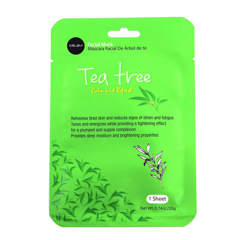 Facial Mask Pack 1 Sheet-Tea Tree