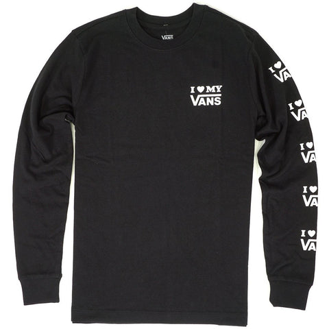 Vans Women's Love Long Sleeve T-Shirt in Black