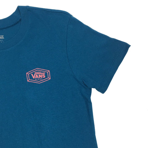 Vans Women Original Basic T-Shirt Blue