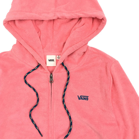 Vans Women's Pink Zip Up Hoodie Jacket