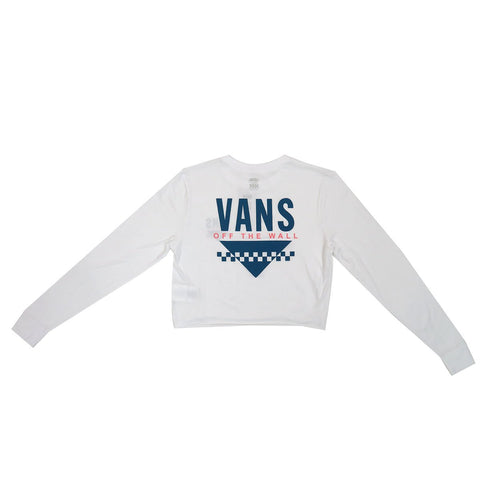 Vans Women's Sound Checker Long Sleeve Crop T-Shirt