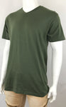 Men's Plain V Neck T-Shirt-Black, Red, Olive, Charcoal, Orange 9 Size/ S to 6XL