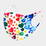Colorful Heart Print Non-Medical Fashion Mask