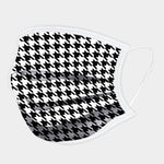 Load image into Gallery viewer, HOUNDSTOOTH PRINT COTTON NON-MEDICAL FASHION MASK