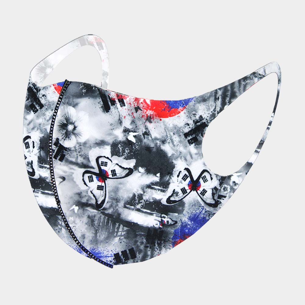 Butterfly Print Non-Medical Fashion Mask
