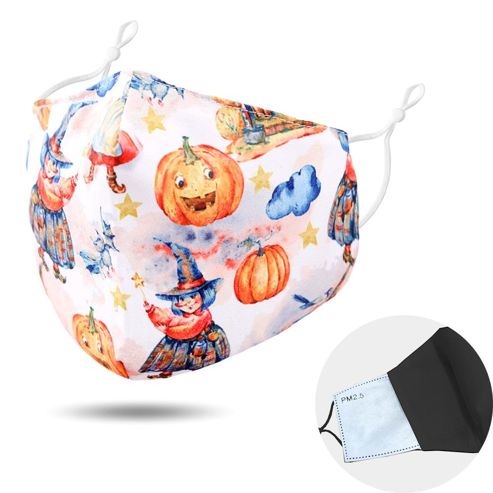 Pumpkin Print Cotton Kids Non-Medical Reusable Fashion Masks