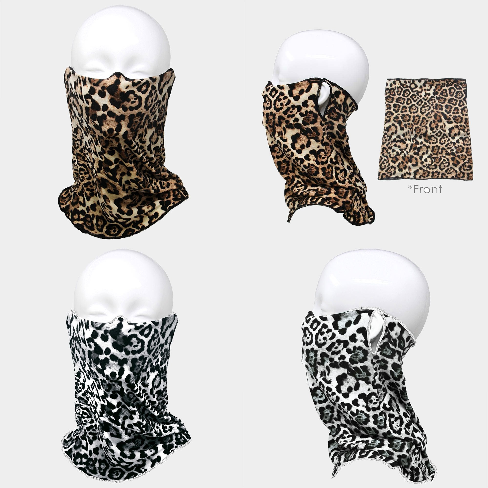 Leopard Print Seamless Non-Medical Face Tube Mask