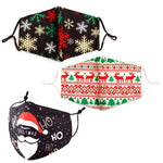 Christmas Theme Print Cotton Blend Non-Medical Fashion Face Mask