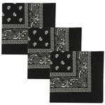 Men's 100% Cotton Bandana 3pcs in 1 set
