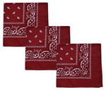 Load image into Gallery viewer, Men's 100% Cotton Bandana 3pcs in 1 set