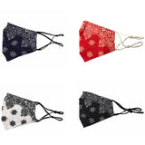 Bandana Print Face Covering Mask With Filter Pocket - Non medical