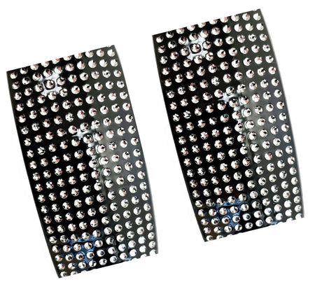 Large Rectangular Bar 10 Rows of Sparkling Pave Stone Hair Clip Barrette-2 pics in 1 Order