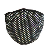 Allover Rhinestone Stretchable face mask, Reusable washable, Fashionable Triple layer